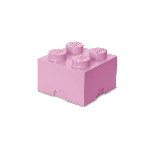 Room Copenhagen - LEGO Opbevaringskasse Brick 4 - Lys Lilla