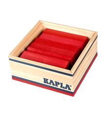 Kapla - Rote Ziegelsteine - 40 Stück