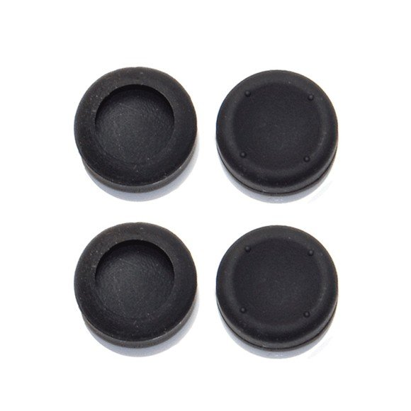 ZedLabz concave silicone thumb grips for Sony PS4 controller thumbstick grip caps - 4 pack black