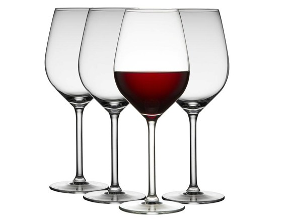 Lyngby Glas - Jewel Red Wine Glass 50 cl - Set of 4 (916255)