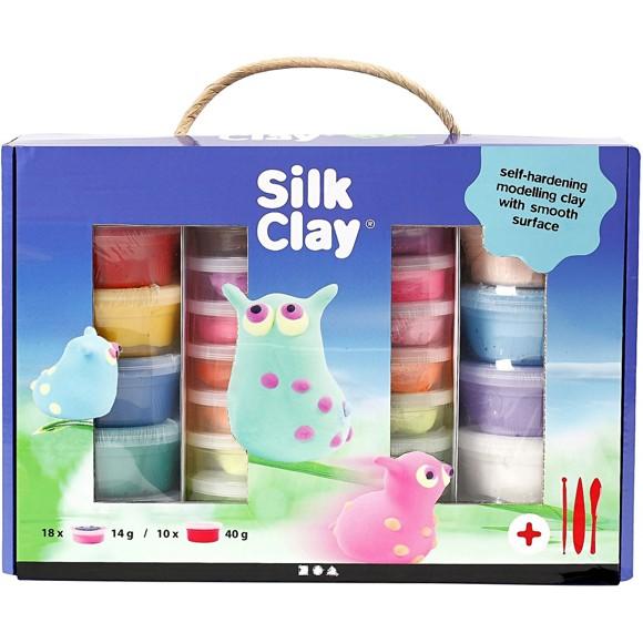 Silk Clay Set, 1 Set, Sortierte Farben