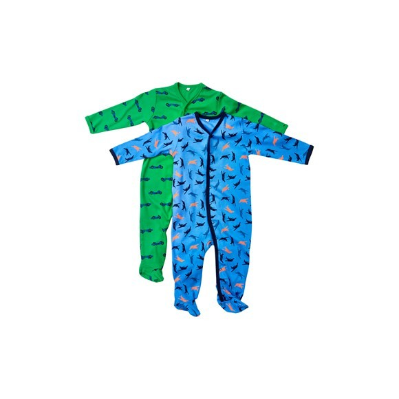 Pippi - Nightsuit w/f 2-pack - buttons - Dark Navy