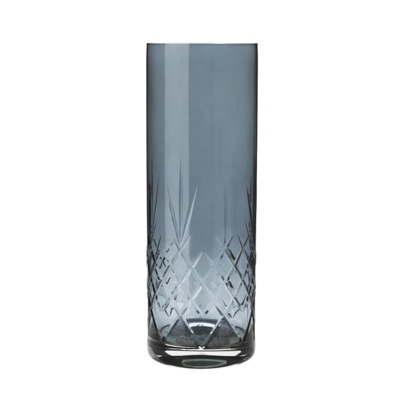 Frederik Bagger - Crispy Sapphire Love 3 Crystal Vase (10393)
