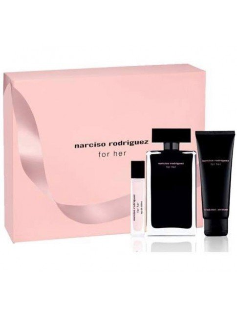 Narciso Rodrigues - For Her EDT 100 ml + Bodylotion 75 ml + EDT 10 ml - Giftset
