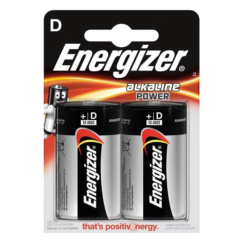 Energizer - Battery D/LR20 Alkaline Power 2-Pack