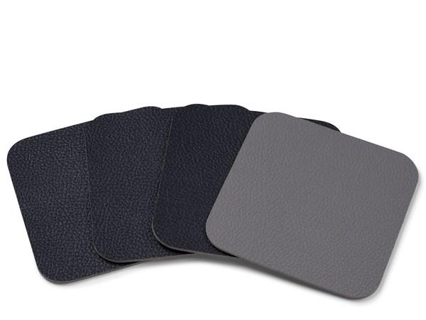 Bitz - Glass Coasters - Black/Grey (190801)