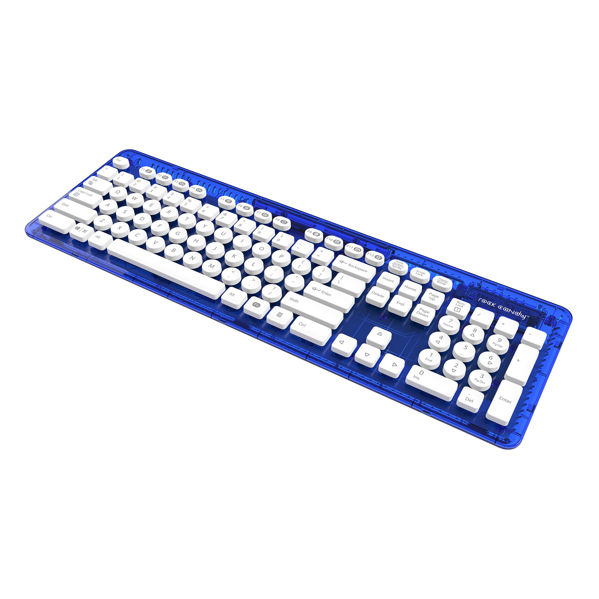 Rock Candy Wireless Keyboard - Blueberry Boom (Nordic Layout)