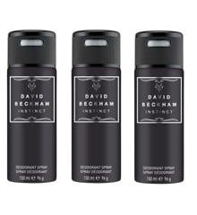 David Beckham - 3x Instinct Deodorant Spray 150 ml