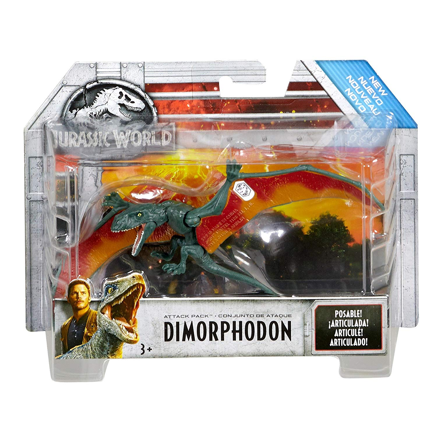 Mattel FVJ87 Jurassic World Attack Pack Dimorphodon 2