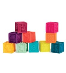 B. Toys - One Two Squeeze Soft Blocks, Mint (1481)