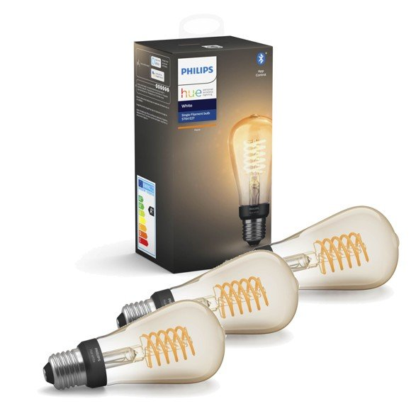 Philips Hue - 3xE27 Filament ST64 - Warm White - Bluetooth - Bundle