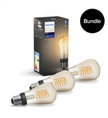 Philips Hue - 3xE27 Filament ST4 - Warm White - Bluetooth - Bundle
