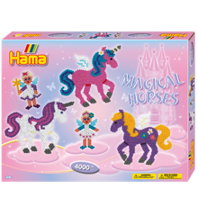 HAMA Perler - Midi -Gaveæske - Magiske Heste (3138)
