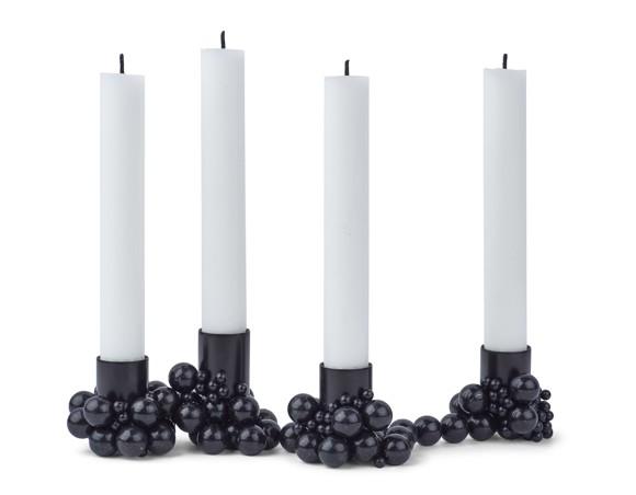 Gejst - Molekyl 4 - Schwarz Kerzenständer (00041)