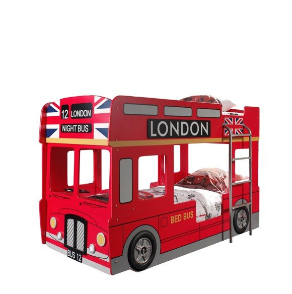 London bus bunkbed 90x200cm
