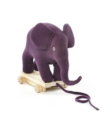 Smallstuff - Pull Along  Elephant - Aubergine