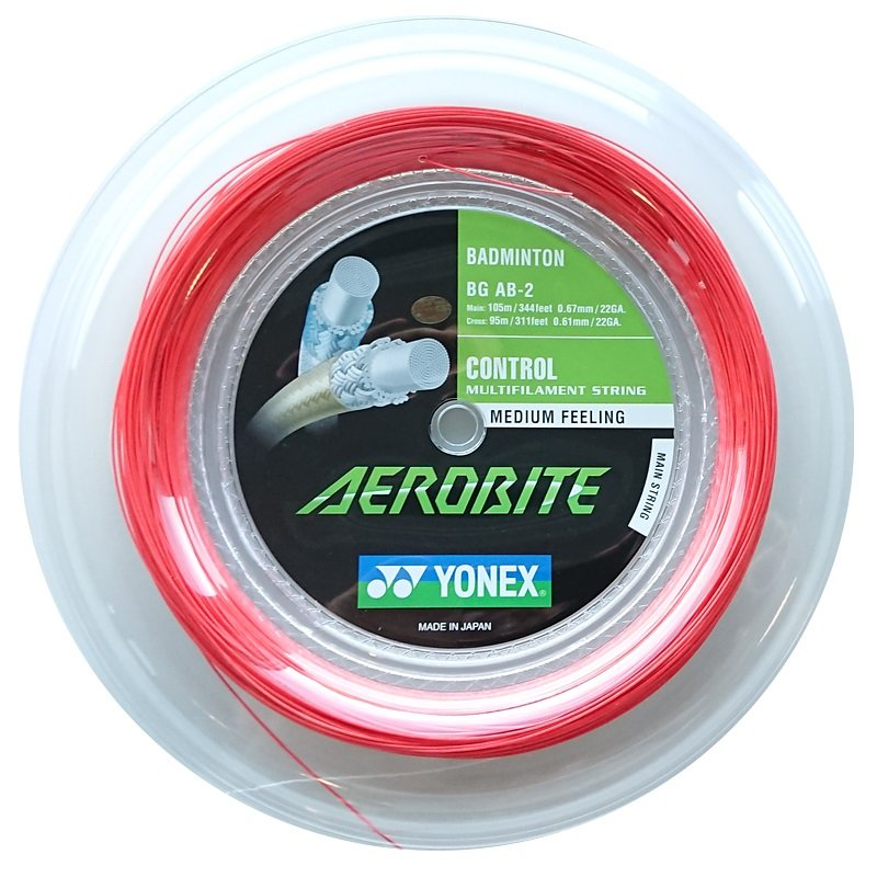 Yonex Aerobite 200M red and white badminton string