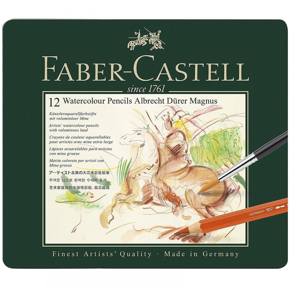 Faber-Castell - Aquarellstift Albrecht Dürer Magnus 12er Metalletui