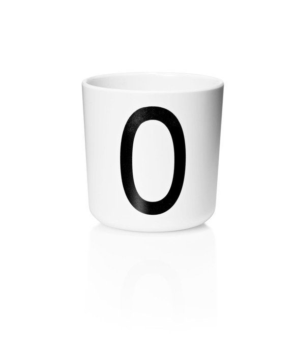 ​Design Letters - Personal Melamine Cup O - White (20201000O)