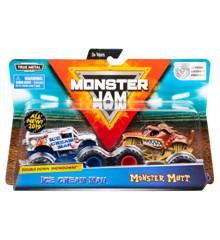 Monster Jam 1:64 2 Pakke - Ice Cream Man & Monster Mutt