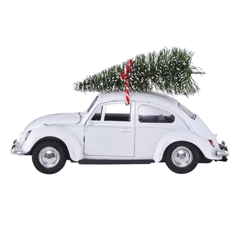 House Doctor - Christmas Xmas Car - White (ft1000)