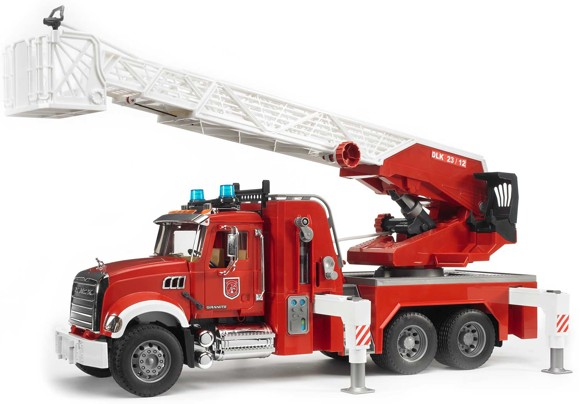 Bruder - MACK Granite Fire engine with slewing ladder and water pump (BR2821)