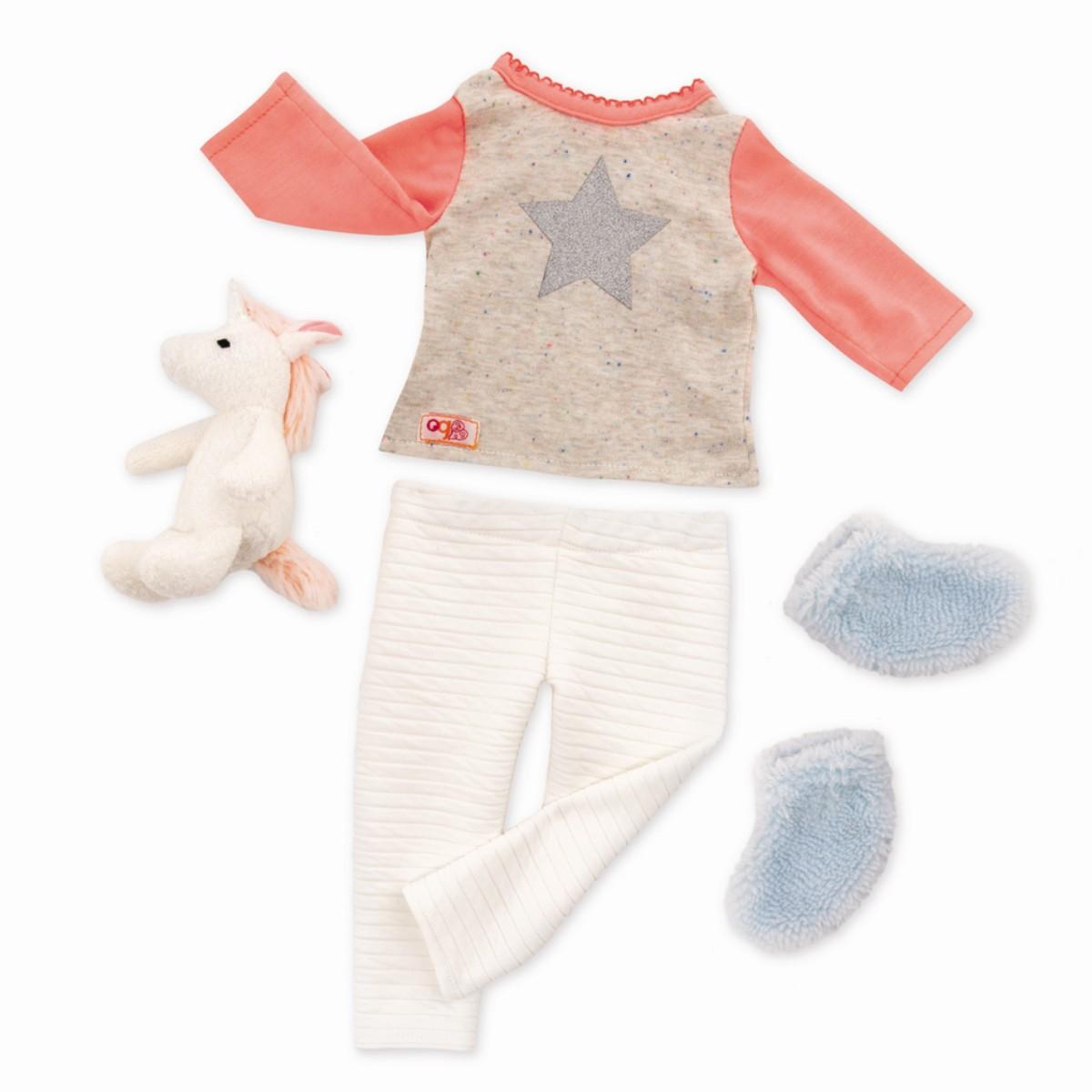 Our Generation - Kleidung - Schlafanzug mit Einhorn (730311)