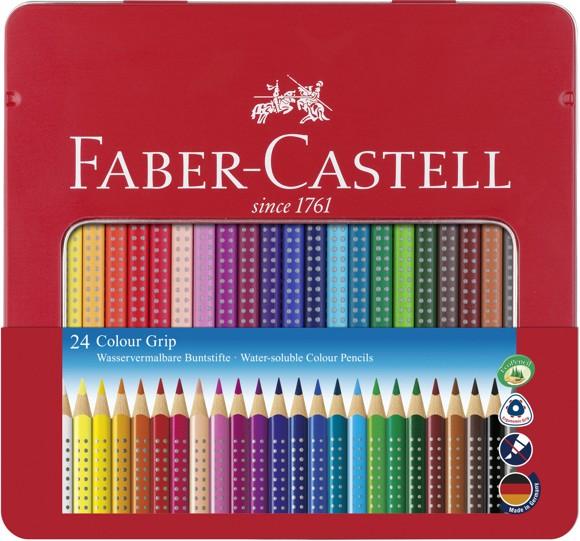 Faber-Castell - Colour GRIP farveblyant, tinæske med 24 stk (112423)