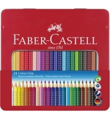 Faber-Castell - Coloured pencil Colour Grip tin of 24 (112423)
