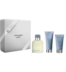 Dolce & Gabbana - Light Blue Pour Homme EDT 125 ml + Aftershave Balm 75 ml + Showergel 50 ml - Gavesæt