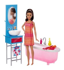 Barbie - Doll & Bathroom Playset (DVX53)