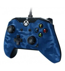 PDP Deluxe Wired Controller Blue Camouflage