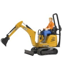 Bruder - JCB Micro Excavator 8010 CTS and Construction Worker(62002)