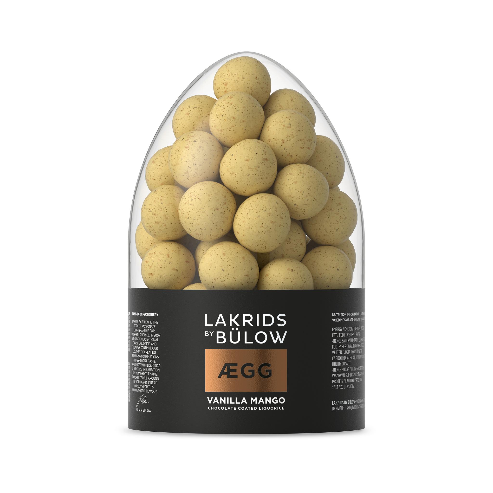 125 Gramm Lakrids By Bülow Vanilla Mango Egg