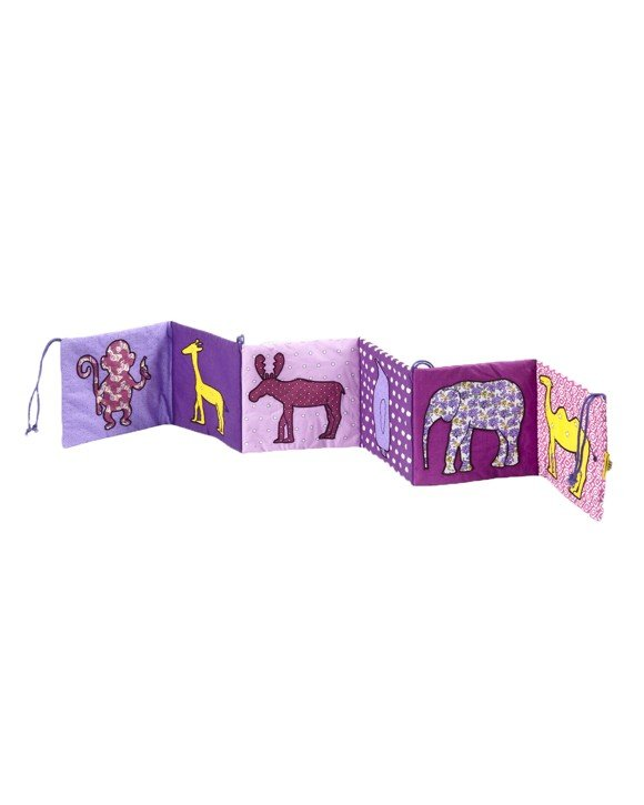 Smallstuff - Fabric Book w. Animals - Girl
