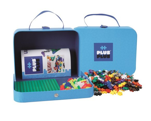 Plus Plus - Suitcase Cardboard - Blue (2-729)