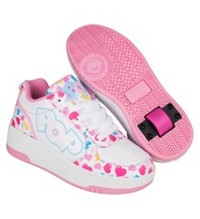 Heelys - Strike - White/Light Pink/Heart - Size 35 (POP-G1W-0044)