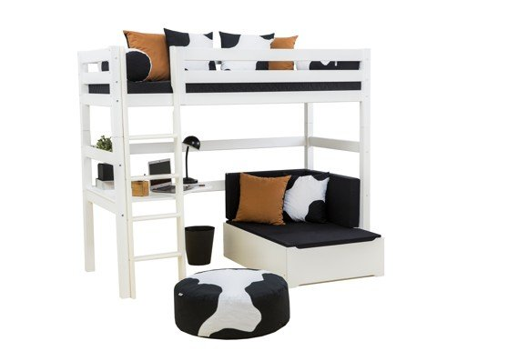 Hoppekids - PREMIUM High Bed 90x200 with Lounge