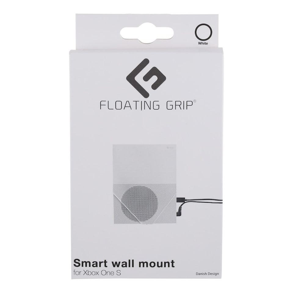 FLOATING GRIP� wall mount for Xbox One S, White