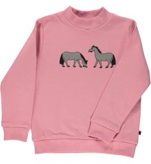 Småfolk - SweatShirt w. Horse Print - Blush