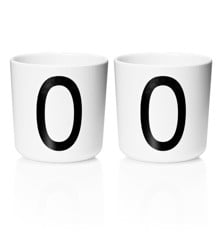 ​Design Letters - Personal Melamine Cup O - 2 pcs - White