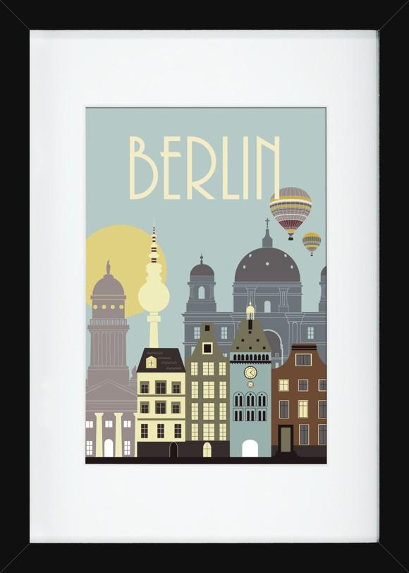 Hoei - Wonderful Capital Berlin 60 x 80 w/Frame (220086060080)