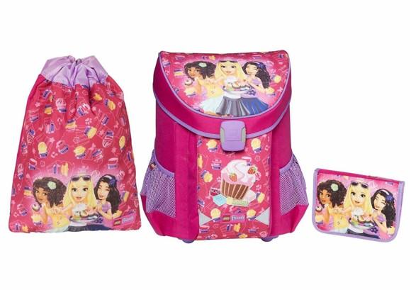 LEGO - EASY School Bag Set (3 pcs.) -  Friends - Cupcake (20015-1711)