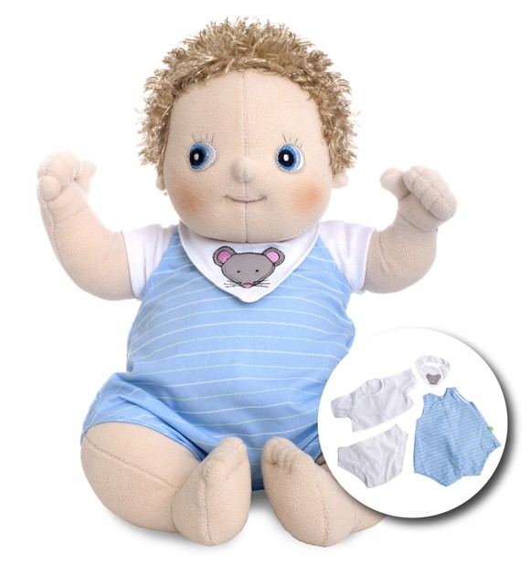 Rubens Barn - Rubens Baby dukke med ble - Erik