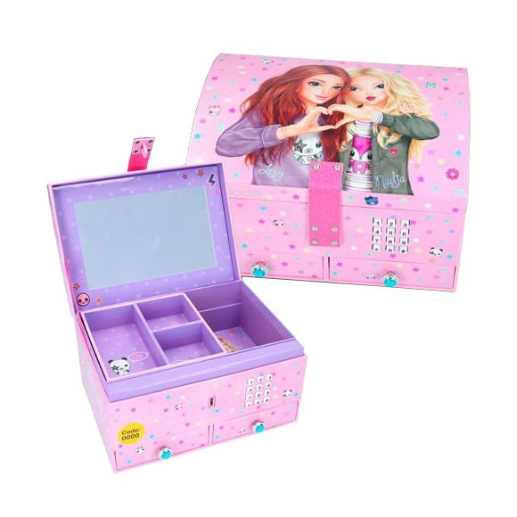 Topmodel - Smykkeskrin med kode og lyd - Pink