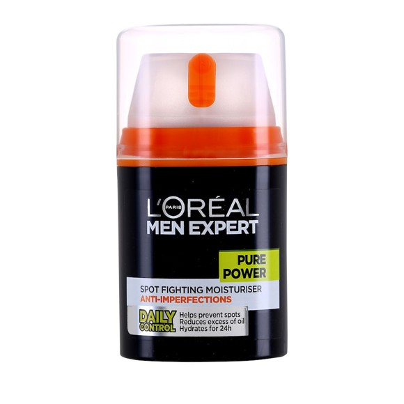 L'Oréal -  Men Expert Pure Power Spot Fighting Moisturiser Anti-Imperfections - Ansigtscreme 50 ml
