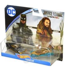 Hot Wheels - Justice League Køretøjer - Batman & Aquaman (FFV13)