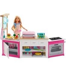 Barbie - Ultimattiv Bage og Stor Køkken med Dukke (FRH73)