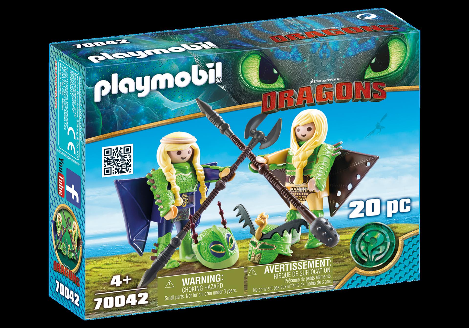 Playmobil - Stenknold og Benknold i flyveuniform (70042)