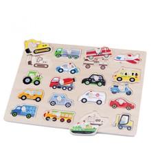 New Classic Toys - Knop Puslespil - Køretøjer
